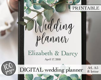 Wedding planning book, Wedding planner printable, Wedding binder, Printable wedding planner, Engagement gift, PDF download, Bridal gift idea