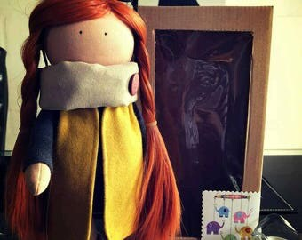 Lizzie doll. Tilda doll. Handmade doll. Interior doll.