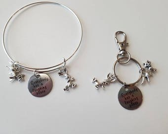 Splash Mountain inspired jewelry- everybody has a laughing place, Disney bangle bracelet OR keychain, Brer Rabbit, Disney Parks jewelry
