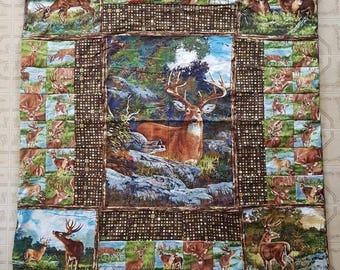 "Deer Camp Outdoor Hunting Baby Toddler Blanket 36"" x 46"""