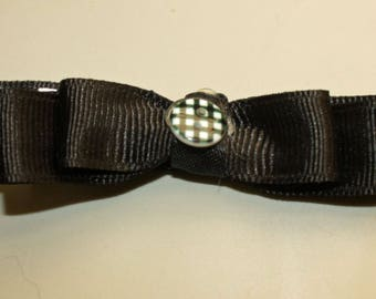 Black and White Dog or Puppy hair bow