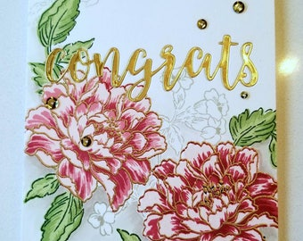 Handmade Floral Congratulations Card