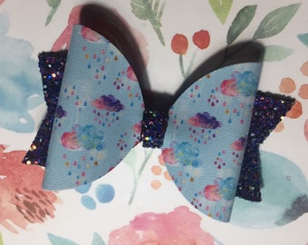 Rainbow Clouds, Glitter Bow