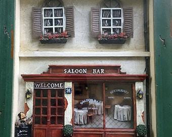Seymour Mann Plant Saloon Bar Shadow Box - Wall Home Decor Picture