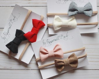 Classic linen baby bow, baby accessories, linen, classic bow, baby photo prop, hair accessories
