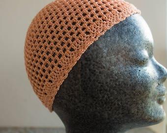 Orange Crochet cap/Cap 31