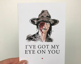 The Walking Dead Valentines Card   Funny Valentines Card