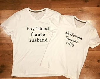 Boyfriend, Fiance, Husband Check Off shirt