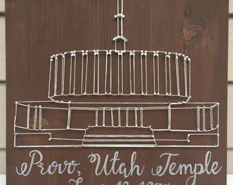 Provo, Utah Temple String Art | Home Decor | Wedding Gift | Anniversary Gift