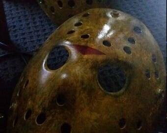 Jason Voorhees buried alive hockey mask
