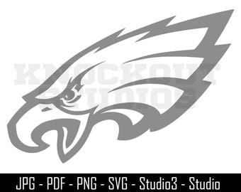 Eagles SVG, Philadelphia, Eagles, Football - Cut Files - SVG, Windows Decal - Silhouette, Cricut and More - CS093