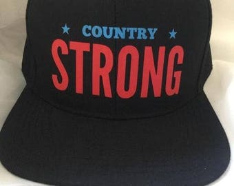 Country Strong | Red and Blue Hat