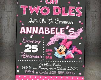 Minnie Mouse Birthday Invitation, Minnie Mouse Invitation, Minnie Mouse Party, Minnie Mouse Birthday, Minnie Mouse, Clubhouse, Minnie Party
