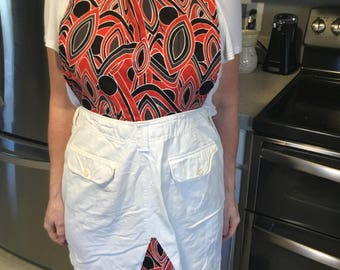 Denim skirt apron