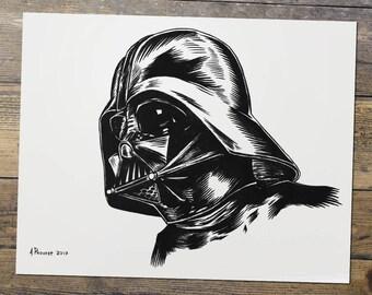 Darth Vader - Vader - Star Wars - Fan Art - Darth Vader Print - Gift for Him