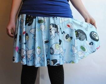 Robot Friends Skater Skirt