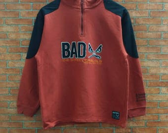 Rare!! Badboy  The Street casual Half Zipper Sweatshirt Small Size