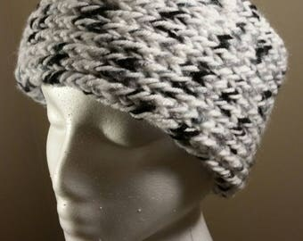 White, Black & Gray Headband