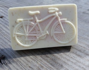 Bicycle Bar Soap / Made to Order Soap / Teacher Gift / Gift For Mom / Thank You Gift / Birthday Gift / Oatmeal and Shea Soap