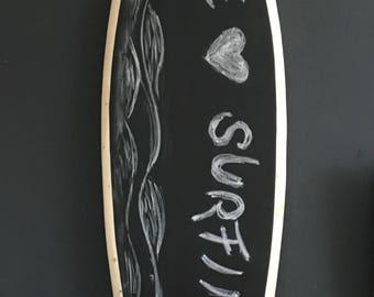 Blackboard Deco Surfboard