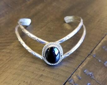 Sterling silver bracelet with Onyx stone