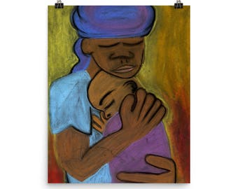 Mother and Child - Beautiful Archival Cotton Rag Fine Art Giclée Print Supporting the Nonprofit Fresh Artists
