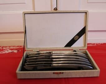 Vintage Armack Stainless Steel Knives in Case