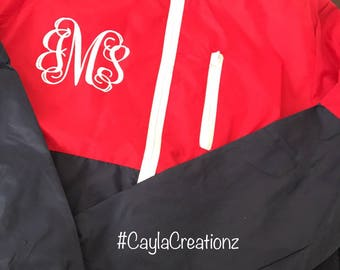 WindBreaker With Monogram Initials