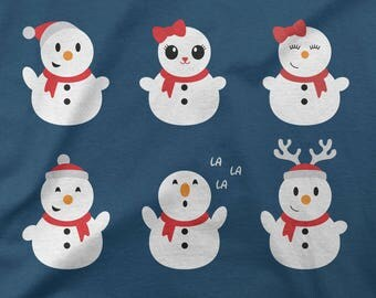 Snowman Bundle SVG Christmas SVG Cut file winter Cutting file SVG Dxf Eps Ai Pdf Png Jpg Files for Cricut Silhouette and more