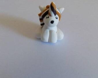 Unicorn polymer clay keychain