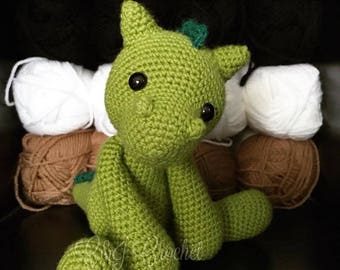 Dinosaur/Amigurumi/Crochet/Handmade Plush Collectable/Gift