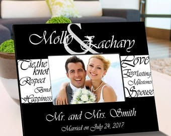 Personalized Everlasting Love Picture Frame - Wedding Photo Frames - Anniversary Picture Frame - Wedding Photo Gift - Anniversary Photo Gift