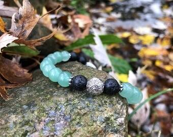 Light Green Jade Diffuser Bracelet