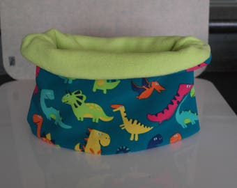 boy 7-8-10 years with little dinosaurs multicolor snood