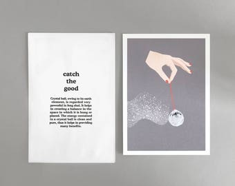 "Illustration ""Catch the good"" (with printed envelope)"