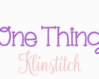 50% Sale!! One Thing Font Embroidery Fonts 3 Sizes Fonts BX Fonts Embroidery Designs PES Fonts Alphabets - Instant Download