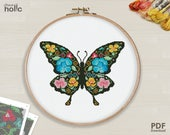 SHP03__Butterfly__cross stitch pattern PDF