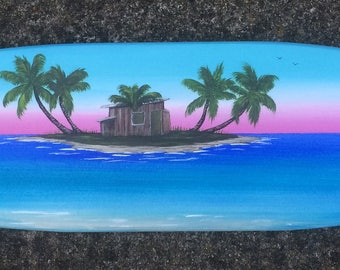 "Decorative surfboard- ""Hideaway"""