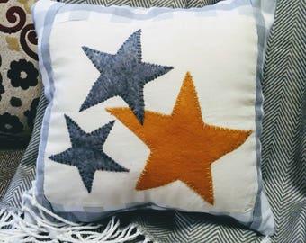 Three Stars accent pillow