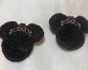 Princess Minnie Hair Clippies