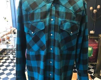Vintage check wrangler check shirt