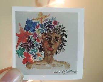 FLOWER GODDESS STICKER