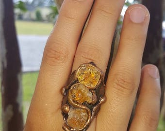 Copper Ring with Citrine