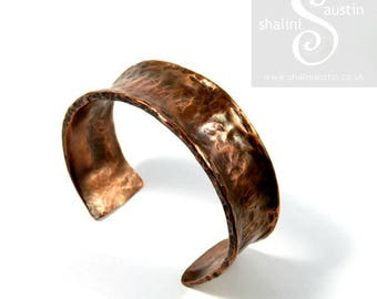 Unisex Copper Cuff made from Upcycled Pipe