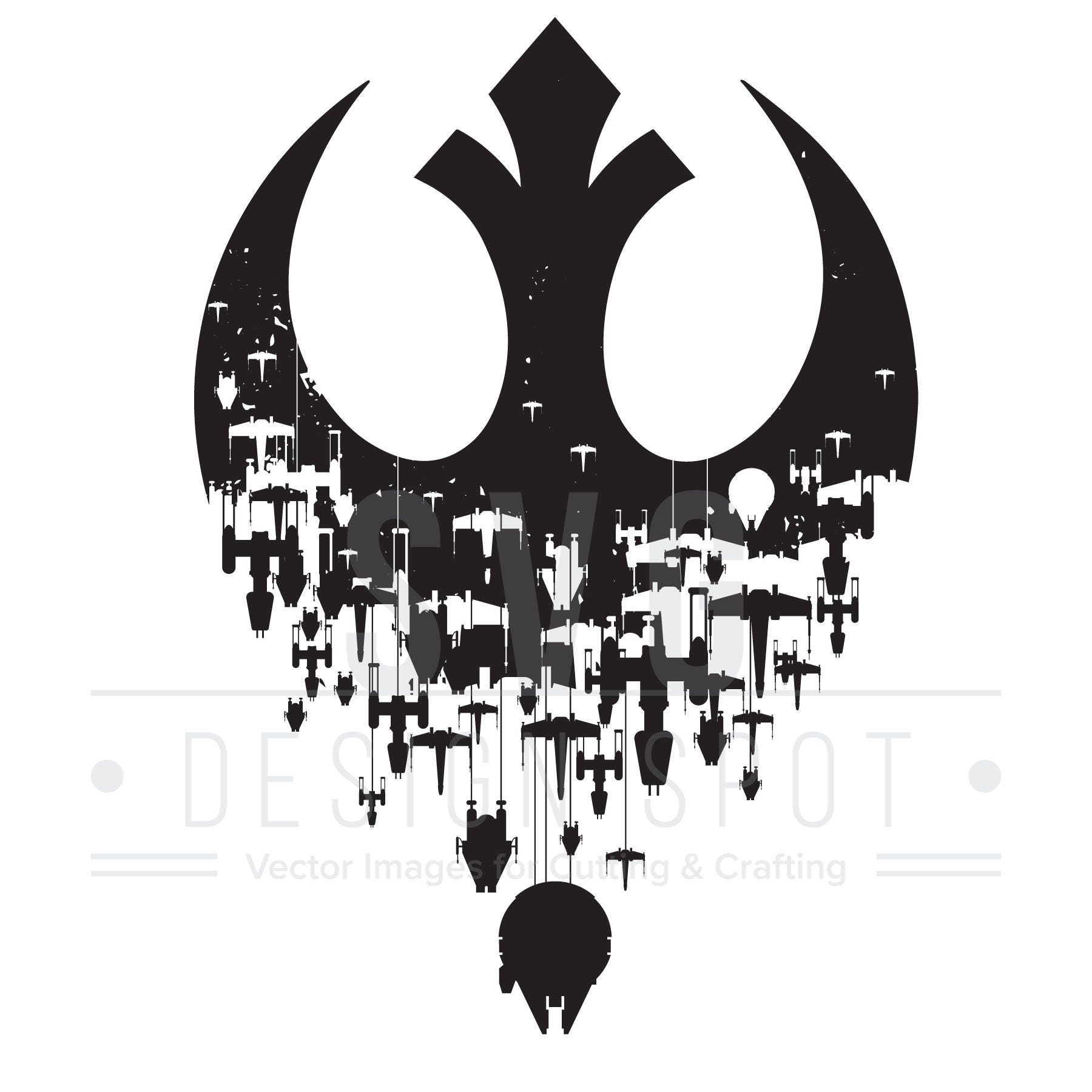 star wars rebel logo svg rebels ships wall art svg for