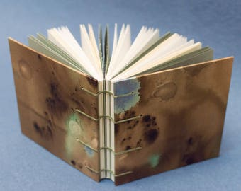 Handmade Coptic Bound Book - Brown and Blue