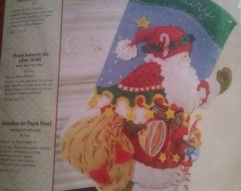 Christmas stocking - Santa Says Hello - Bucilla - Mary Engelbreit