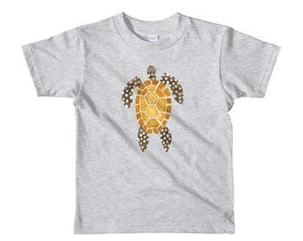 Sea turtle Short sleeve kids t-shirt, sea turtle gifts, beach party outfit, toddler tee whit cute animals, ocean creatures shirt for kids.