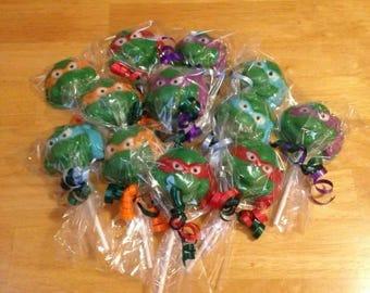 Teenage Mutant Ninja Turtle Lollipops