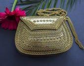 Serena handmade metal clutch, ethnic antique gold clutch, ethnic bag, boho bag, Indian vintage clutch, evening clutch, tribal bag